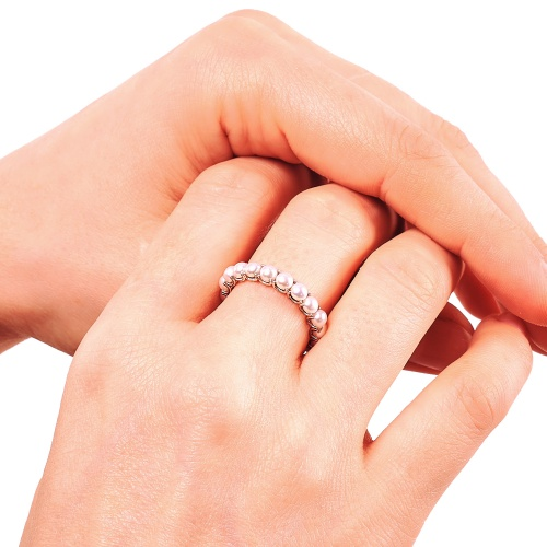 Abriela Small White Gold Ring