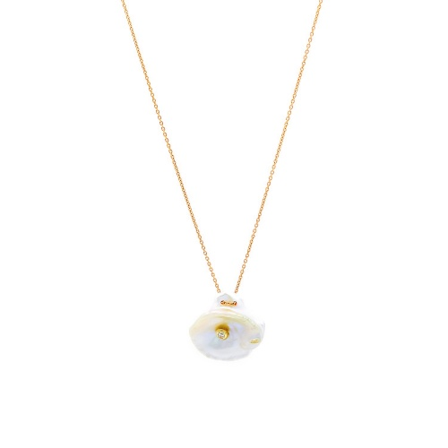 Baroque M Rose Gold Necklace